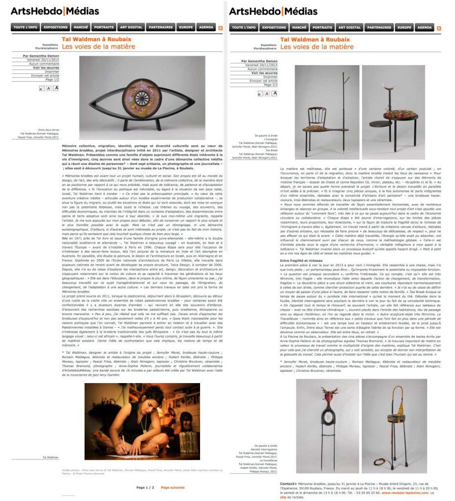 ArtHebdomedaire-nov15-SamanthaDemen